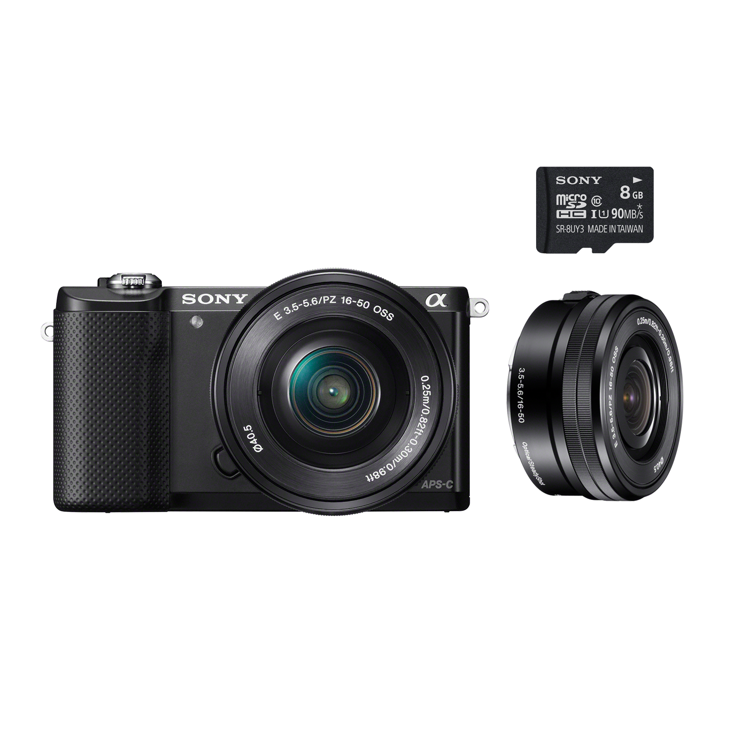 Alpha 5000 E-mount Camera and 16-50 mm Zoom Lens with 8 GB Memory Card, , product-image
