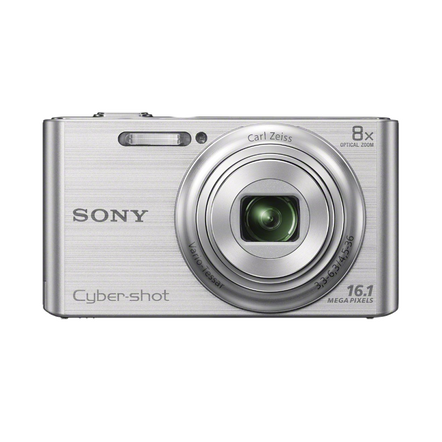 16.1 Megapixel W Series 8X Optical Zoom Cyber-shot Compact Camera (Silver), , hi-res