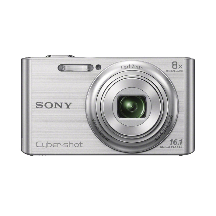 16.1 Megapixel W Series 8X Optical Zoom Cyber-shot Compact Camera (Silver), , product-image