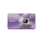 16.1 Megapixel W Series 5X Optical Zoom Cyber-shot Compact Camera (Violet), , hi-res