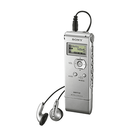 2GB MP3 Digital Voice IC Recorder (Silver)