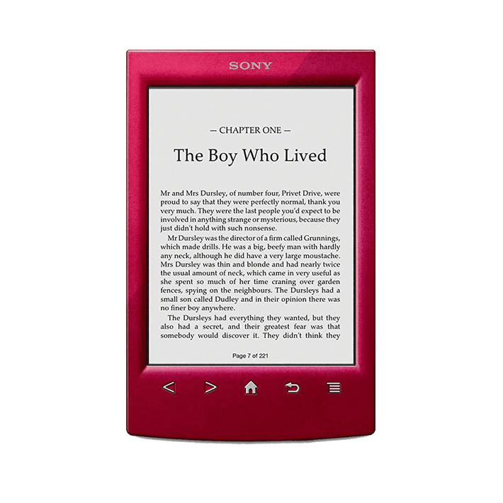 T2 Reader with 6.0 Paper-Like Touch Screen with Complimentary Harry Potter Ebook (Red), , product-image