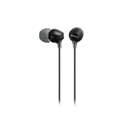 In-Ear Lightweight Headphones with Smartphone Control (Black)