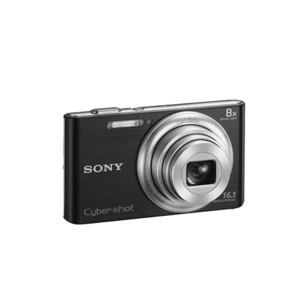 16.1 Megapixel W Series 8X Optical Zoom Cyber-shot Compact Camera (Black), , hi-res
