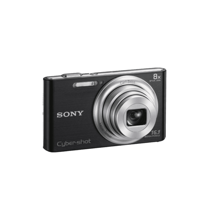 16.1 Megapixel W Series 8X Optical Zoom Cyber-shot Compact Camera (Black), , product-image