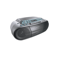 CD Radio Cassette Player (Silver)