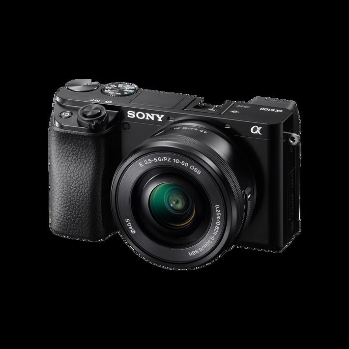 Alpha 6100 Digital E-Mount Camera (Black) with 16-50mm Lens , , product-image
