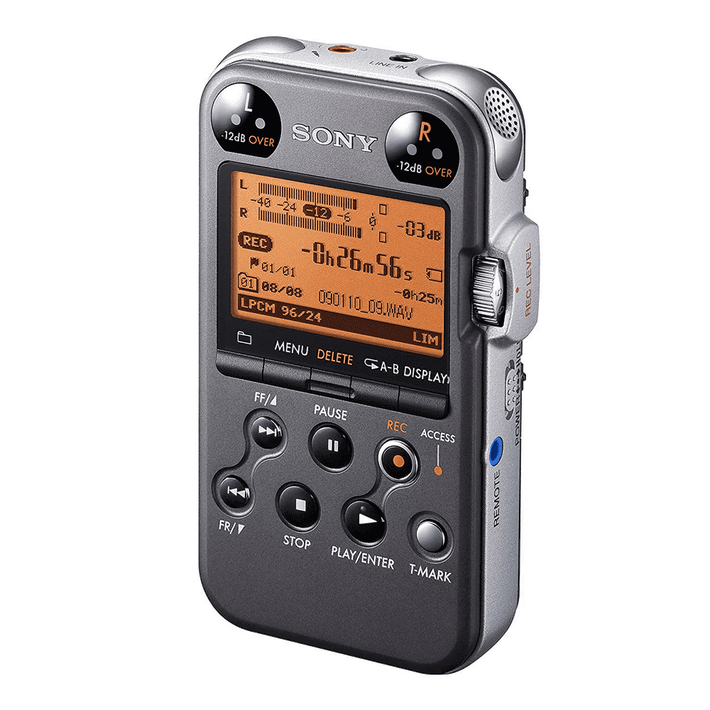 4GB Professional Series Linear PCM Recorder (Black), , product-image