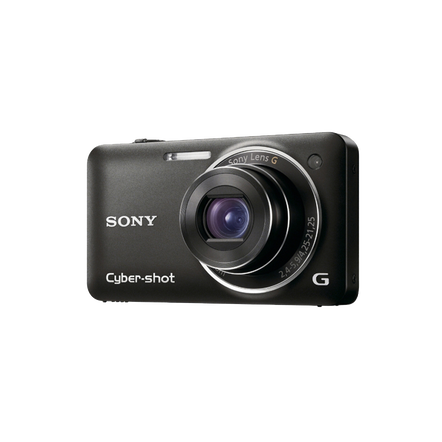 12.2 Megapixel W Series 5X Optical Zoom Cyber-shot Compact Camera (Black), , hi-res