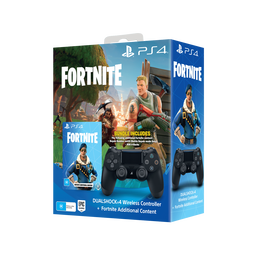 PlayStation4 DualShock Wireless Controllers (Black) Bundle with Fortnite additional content, , hi-res