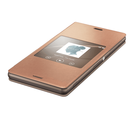 Style Cover Window for Xperia Z3 - SCR24 (Copper), , hi-res