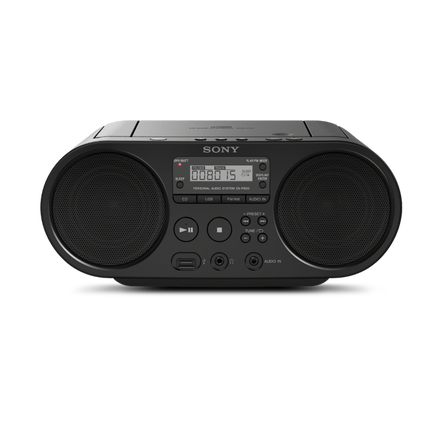 CD Boombox with AM/FM Radio Tuner and USB Playback, , hi-res