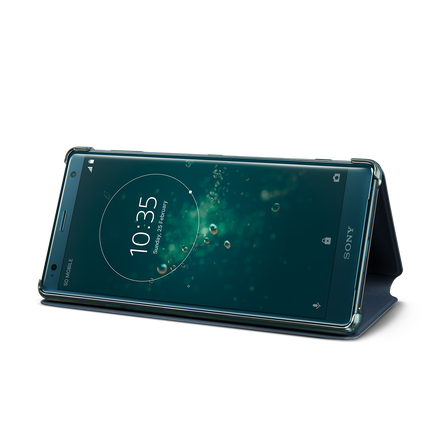Style Cover Stand SCSH40 for Xperia XZ2 (Green)