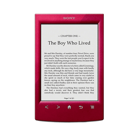 T2 Reader with 6.0 Paper-Like Touch Screen with Complimentary Harry Potter Ebook (Red)