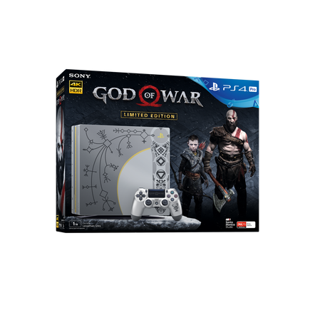 PlayStation4 Pro 1TB God of War Limited Edition Console (Leviathan Grey)