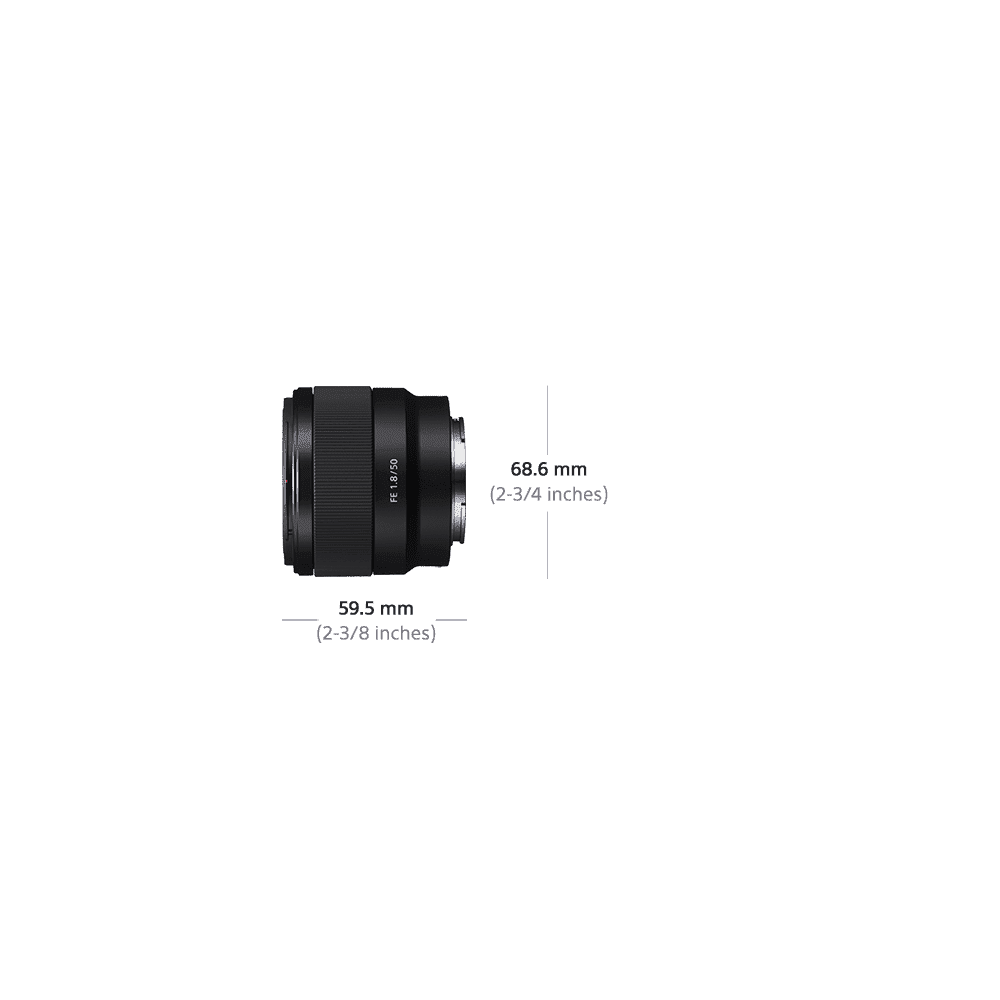 Full Frame E-Mount 50mm F1.8 Lens, , product-image