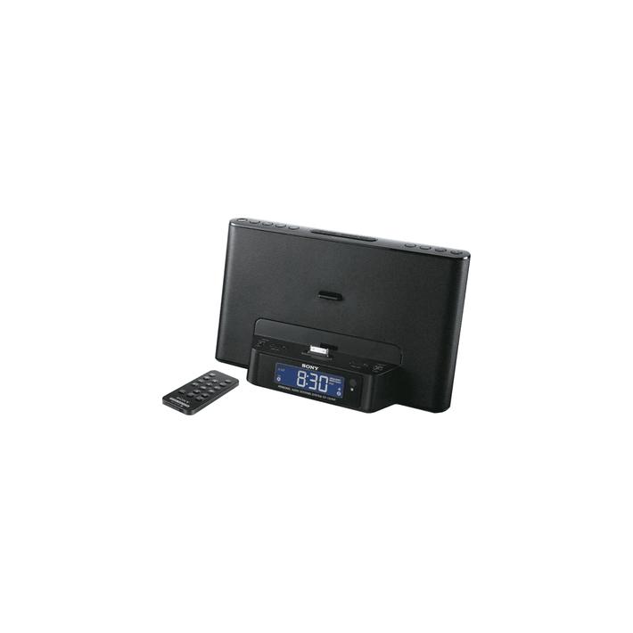 iPod and iPhone Dock Clock Radio (Black), , product-image