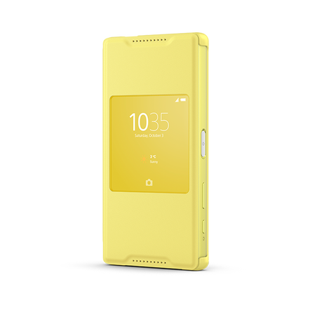 Smart Cover Stand SCR44 for Xperian Z5 Compact (Yellow), , hi-res