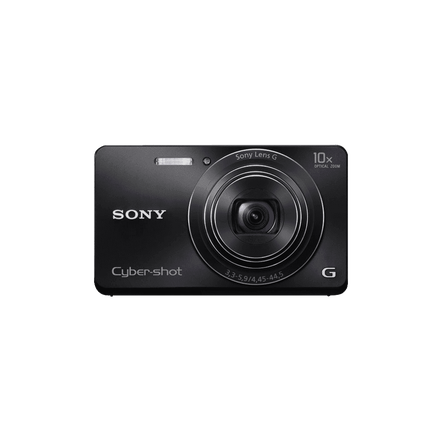 16.1 Megapixel W Series 10X Optical Zoom Cyber-shot Compact Camera (Black)