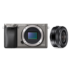 a6000 Digital E-Mount Camera (Grey) with 16-50mm Lens