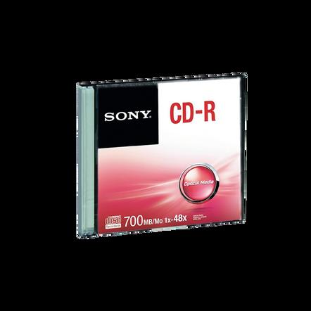 48X CD-R DISC Single Slim Case, , hi-res