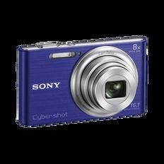 16.1 Megapixel W Series 8X Optical Zoom Cyber-shot Compact Camera (Blue)