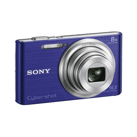 16.1 Megapixel W Series 8X Optical Zoom Cyber-shot Compact Camera (Blue)