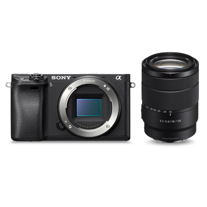 Alpha 6300 E-mount camera with 18-135mm Zoom Lens, , product-image
