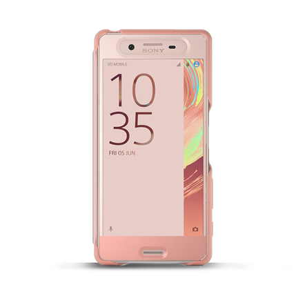 Style Cover Touch SCR50 for Xperia X (Rose Gold), , hi-res