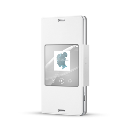 Style Cover with Smart Window for Xperia Z3 Compact (White), , hi-res