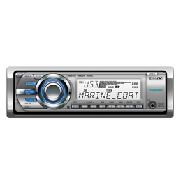 Marine MP3 M60 Series Radio/CD Head Unit (Silver)