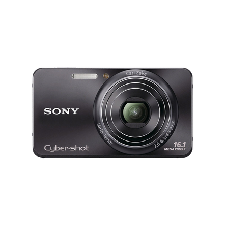 16.1 Megapixel W Series 5X Optical Zoom Cyber-shot Compact Camera (Black)
