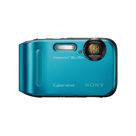 16.1 Megapixel T Series 4X Optical Zoom Cyber-shot Compact Camera (Blue)