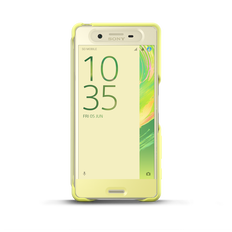 Style Cover Touch SCR50 for Xperia X (Lime Gold)