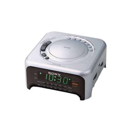 Clock Radio - Silver