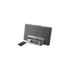 iPod and iPhone Dock Clock Radio (Silver)