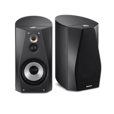 High-Resolution Audio Stereo Bookshelf Speakers (Black)