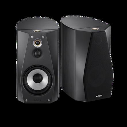 High-Resolution Audio Stereo Bookshelf Speakers (Black), , hi-res