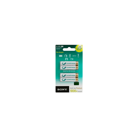 Cycle Energy Multi-Use Premium AAA size 4-pc Blister pack (800mAh), , hi-res