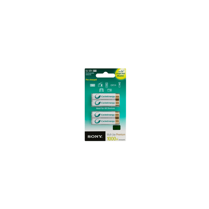 Cycle Energy Multi-Use Premium AAA size 4-pc Blister pack (800mAh), , product-image