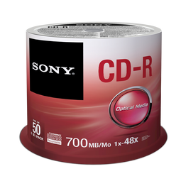 50 Spindle 48X CD-R Disc 700MB