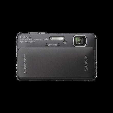 16.2 Megapixel T Series 4X Optical Zoom Cyber-shot Compact Camera (Black), , hi-res