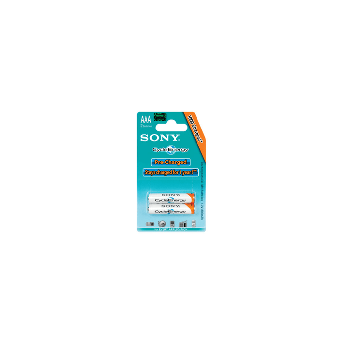 Cycle Energy Blue Rechargeable Battery AAA Size, 2-PC Pack, , product-image