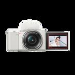 ZV-E10 | Interchangeable Lens Vlog Camera with 16-50mm Lens Kit (White), , hi-res