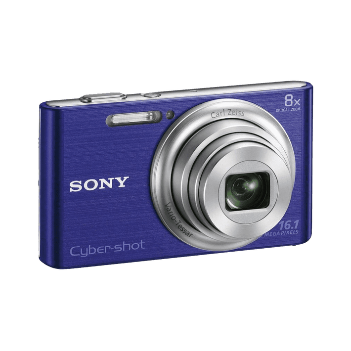 16.1 Megapixel W Series 8X Optical Zoom Cyber-shot Compact Camera (Blue), , product-image