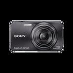16.1 Megapixel W Series 5X Optical Zoom Cyber-shot Compact Camera (Black), , hi-res