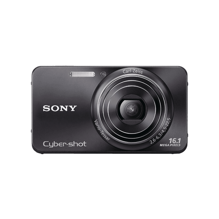 16.1 Megapixel W Series 5X Optical Zoom Cyber-shot Compact Camera (Black), , product-image