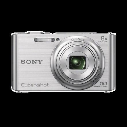 16.1 Megapixel W Series 8X Optical Zoom Cyber-shot Compact Camera (Silver), , hi-res