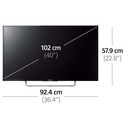 "40"" W700C LED TV with Full HD Display"