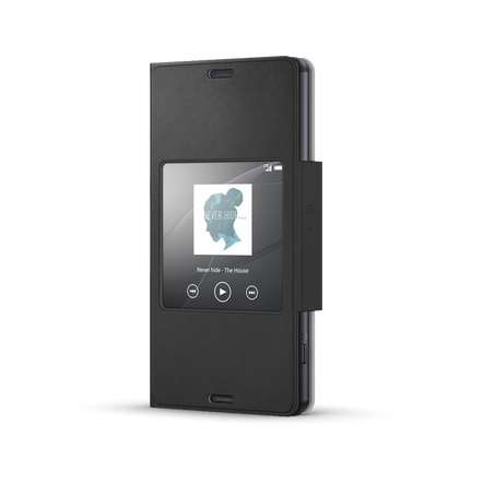 Style Cover Window for Xperia Z3 Compact - SCR26 (Black), , hi-res